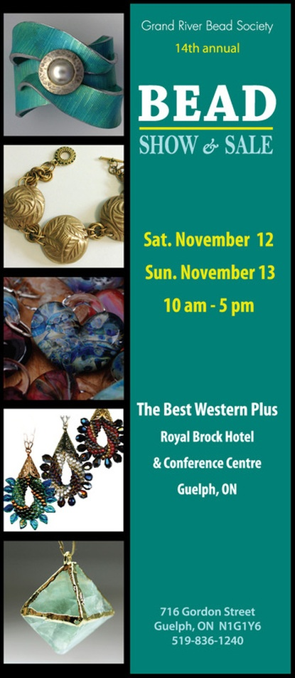 Next Weekend! The bead show is one of two shows I'm doing this fall. It's always great and is located at the Best Western across from the University.